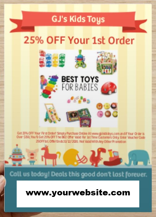 Promotional flyer design for eComm retail online stores